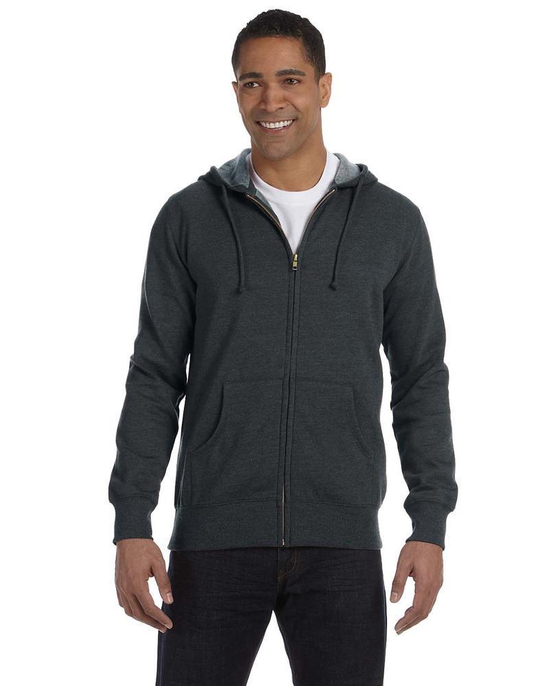 Econscious EC5680 - Men's 11.67 oz. Organic/Recycled Heathered Full-Zip Hood