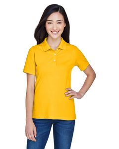 Harriton M265W - Ladies 5.6 oz. Easy Blend Polo