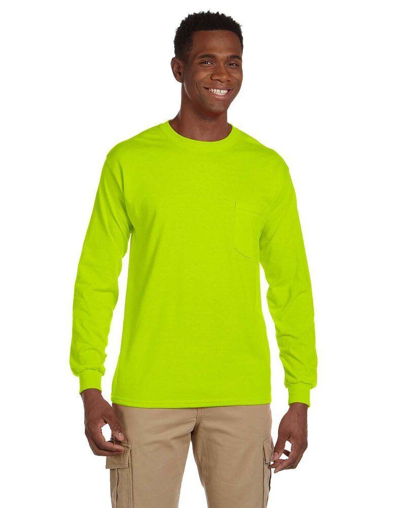 Gildan G241 - T-Shirt Ultra Cotton® 6 Oz. à manches longues avec poche
