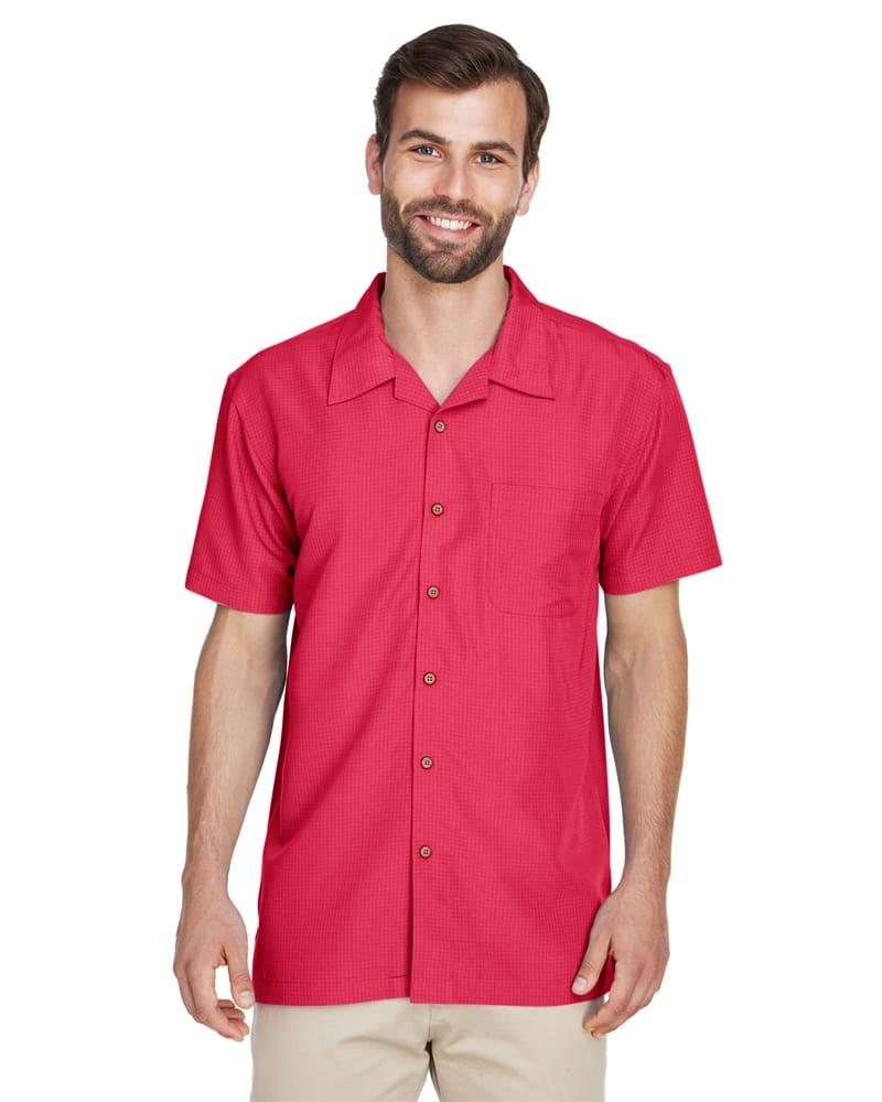 Harriton M560 - Men's Barbados Textured Camp Shirt
