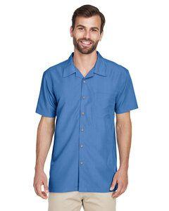 Harriton M560 - Mens Barbados Textured Camp Shirt