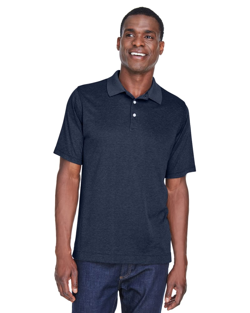 Devon & Jones DG210 - Pima-Tech™ Men's Jet Pique Heather Polo