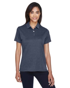 Devon & Jones DG210W - Pima-Tech™ Ladies Jet Pique Heather Polo