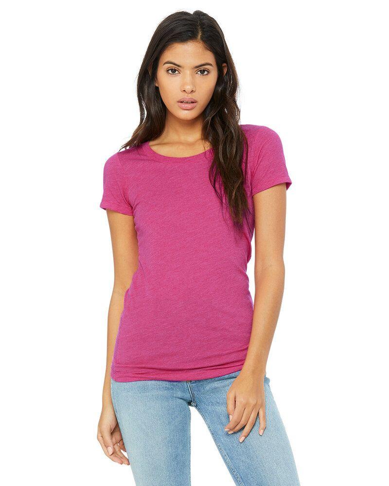Bella+Canvas B8413 - T-shirt à manches courtes Triblend pour femmes
