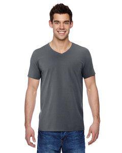 Fruit of the Loom SFVR - T-shirt col V en jersey de coton 100 % Sofspun de 4,7 oz.