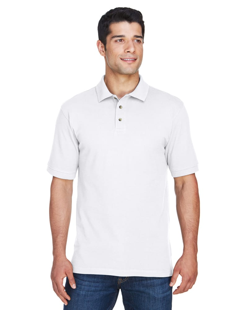 Harriton M200 - Men's 6 oz. Ringspun Cotton Piqué Short-Sleeve Polo