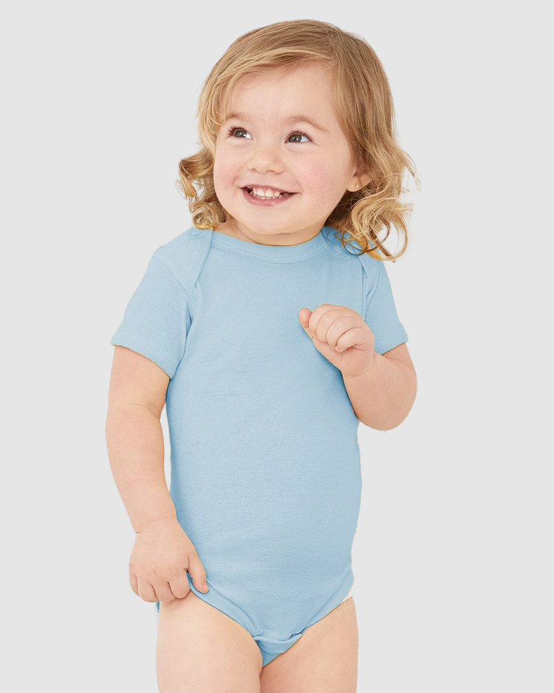 Rabbit Skins 4400 - Body pour bébé avec épaules en côte
