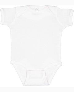Rabbit Skins 4400 - Infant 5 oz. Baby Rib Lap Shoulder Bodysuit