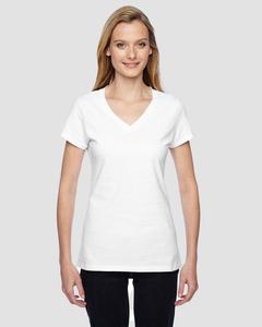 Fruit of the Loom SFJVR - T-Shirt Mesdames 4.7 Oz. 100% coton Sofspun Jersey col V junior