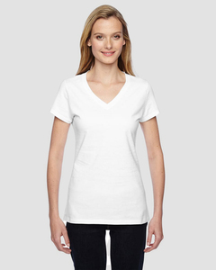 Fruit of the Loom SFJVR - T-Shirt Mesdames 4.7 Oz. 100% coton Sofspun Jersey col V junior