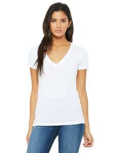 Bella+Canvas B6035 - Ladies Jersey Short-Sleeve Deep V-Neck T-Shirt