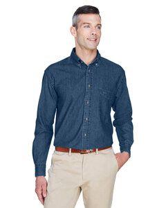Harriton M550 - Chemise en jean à manches longues 6.5 Oz.