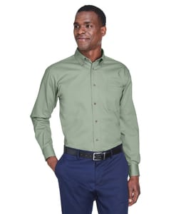 Harriton M500 - Mens Easy Blend™ Long-Sleeve Twill Shirt with Stain-Release