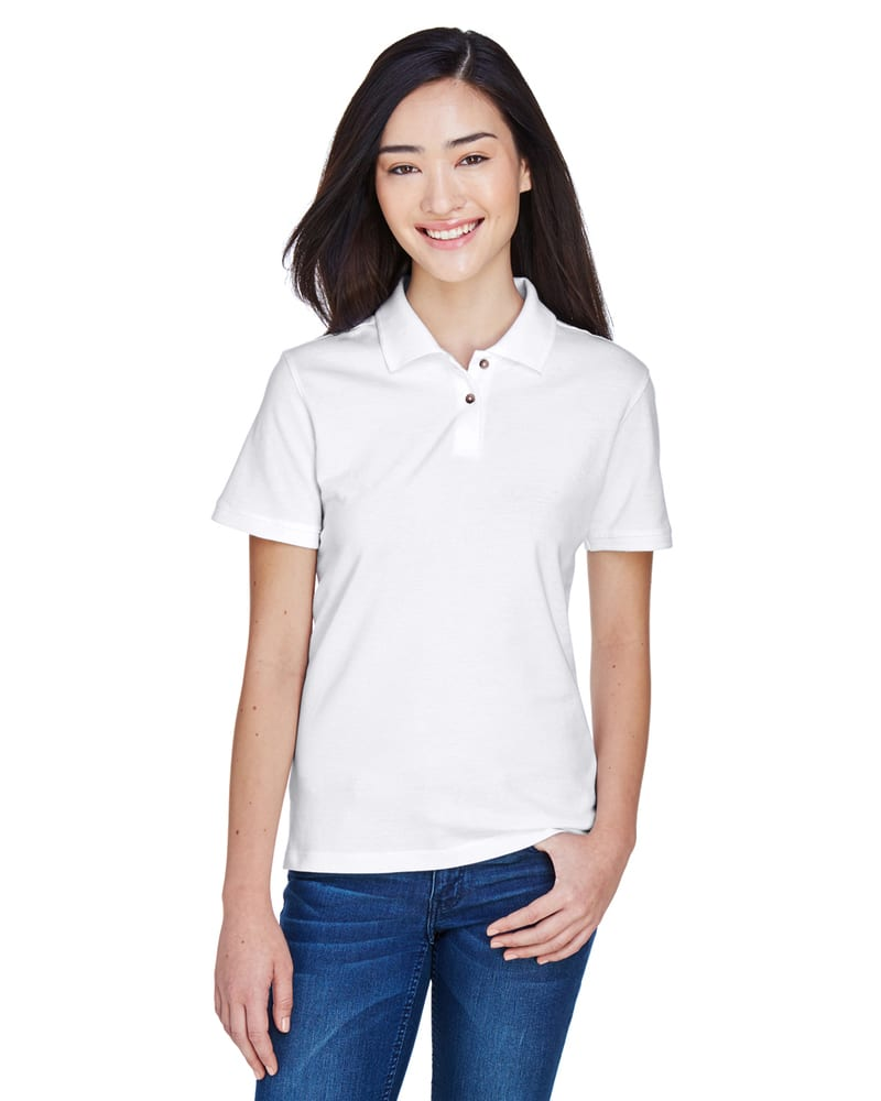 Harriton M200W - Ladies 6 oz. Ringspun Cotton Piqué Short-Sleeve Polo