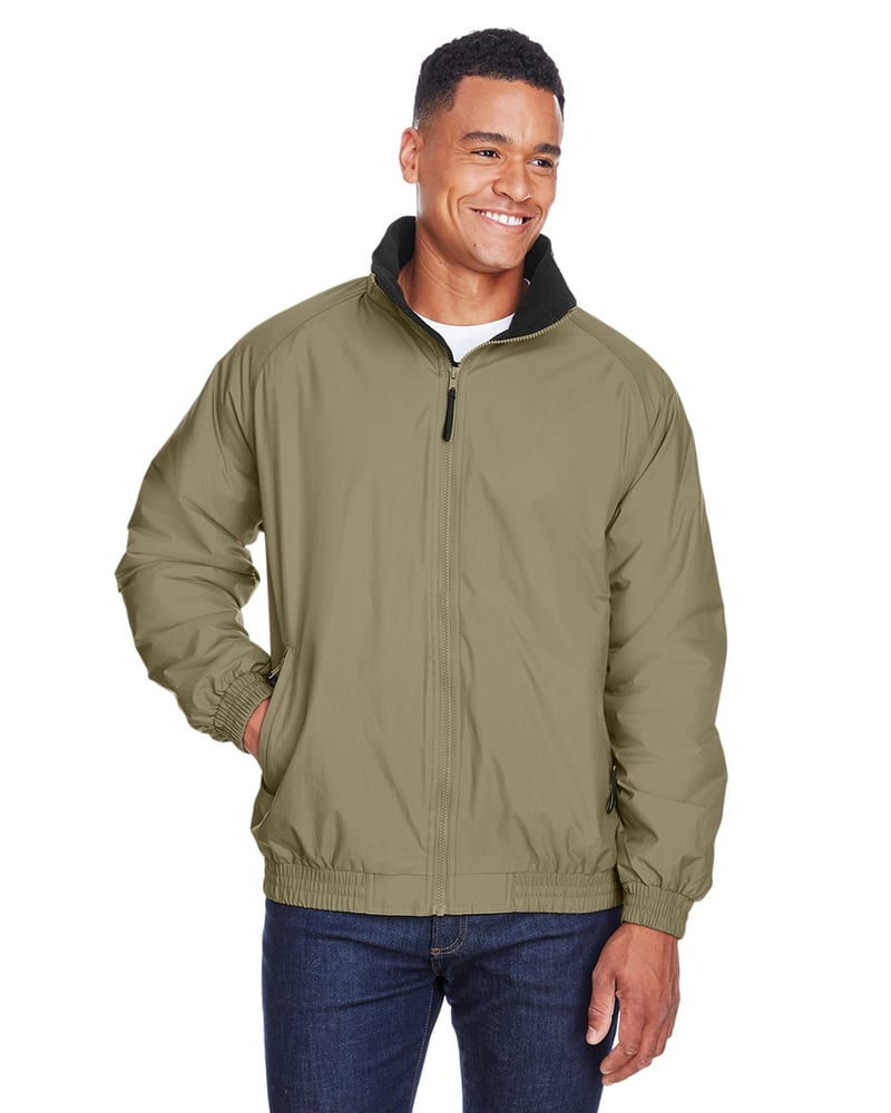 Harriton M740 - Fleece-Lined Nylon Jacket
