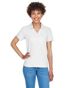 Devon & Jones D100W - Ladies Pima Piqué Short-Sleeve Y-Collar Polo