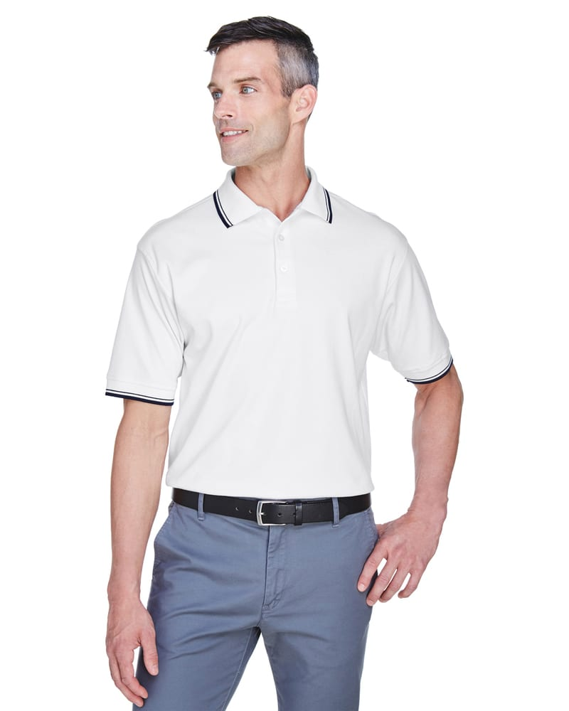 Devon & Jones D140 - Men's Tipped Perfect Pima Interlock Polo