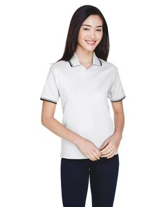 Devon & Jones D140W - Ladies Tipped Perfect Pima Interlock Polo