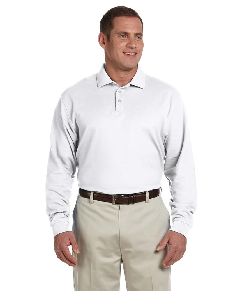 Devon & Jones D110 - Men's Pima Piqué Long-Sleeve Polo