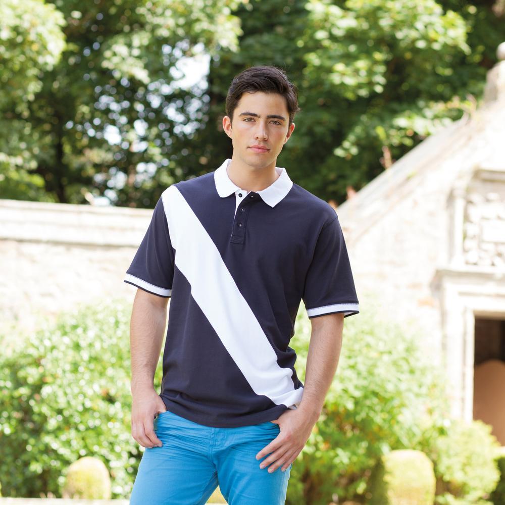 Front Row FR212 - Diagonal Stripe Cotton Piqué Polo Shirt
