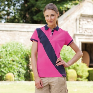 Front Row FR213 - Ladies Diagonal Stripe Cotton Piqué Polo Shirt