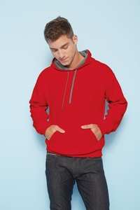 Gildan GI185C00 - Heavy Contrast Hooded Sweat