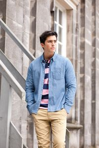 Front Row FR501 - Classic Long Sleeve Chambray Shirt