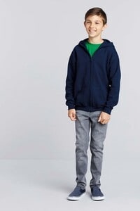Gildan GI18600B - KIDS FULL ZIP HOODED SWEAT