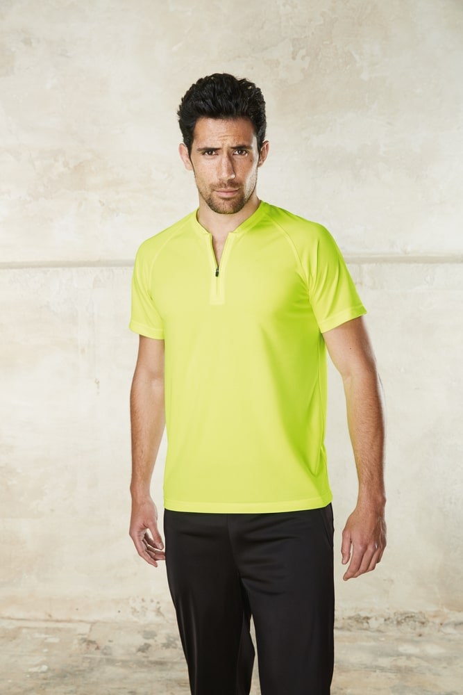 ProAct PA486 - T-SHIRT 1/4 ZIP SPORT MANCHES COURTES UNISEXE