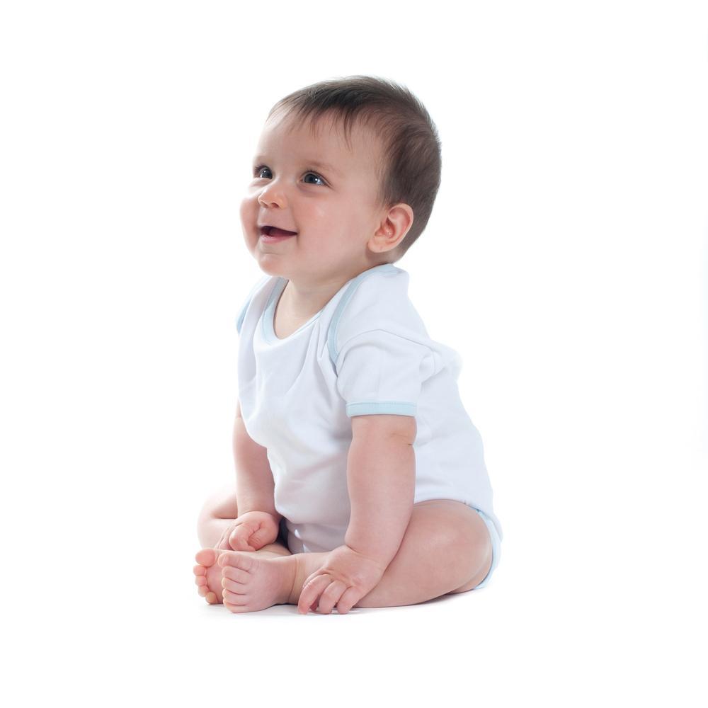 Larkwood LW051 - Body Bébé Contrasté Manches Courtes
