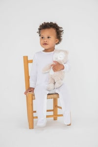 Larkwood LW053 - Pyjama Bébé Contrasté Manche Longue