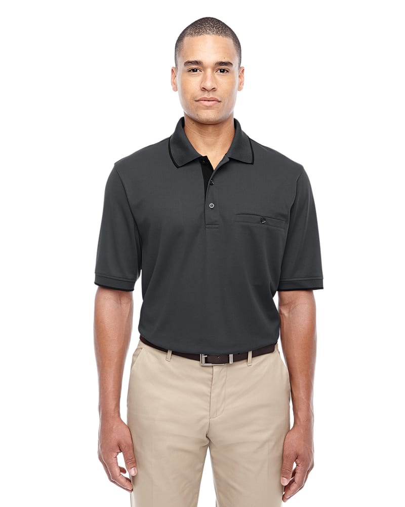 Ash CityCore 365 88222 - Men's Motive Performance Pique Polo with Tipped Collar