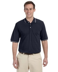 Harriton M270 - 5.6 oz. Tipped Easy Blend Polo