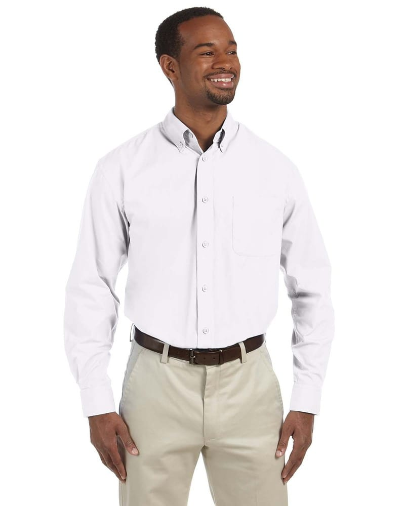 Harriton M510T - Men's Tall 3.1 oz. Essential Long-Sleeve Poplin