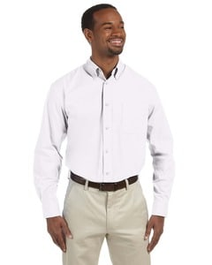 Harriton M510T - Mens Tall 3.1 oz. Essential Long-Sleeve Poplin