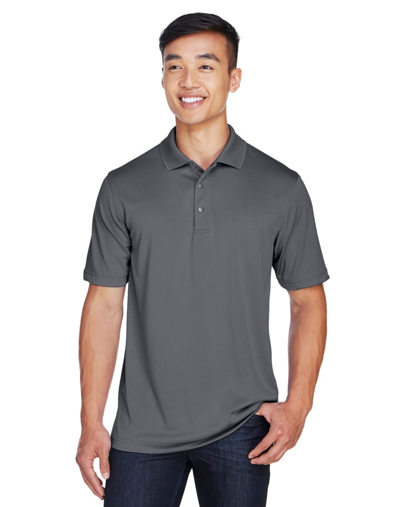 Harriton M345 - Men's Advantage IL Snap Placket Performance Polo
