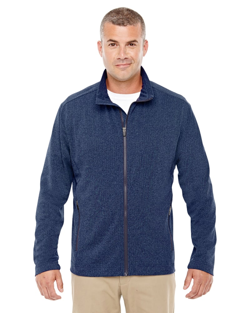 Devon & Jones D885 - Men's Fairfield Herringbone Full-Zip Jacket