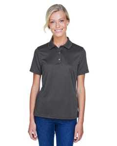 Harriton M345W - Ladies Advantage IL Snap Placket Performance Polo