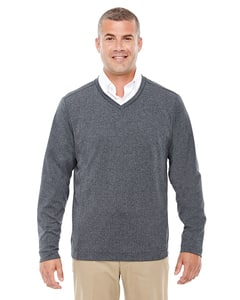 Devon & Jones D884 - Pull à col V Fairfield Herringbone