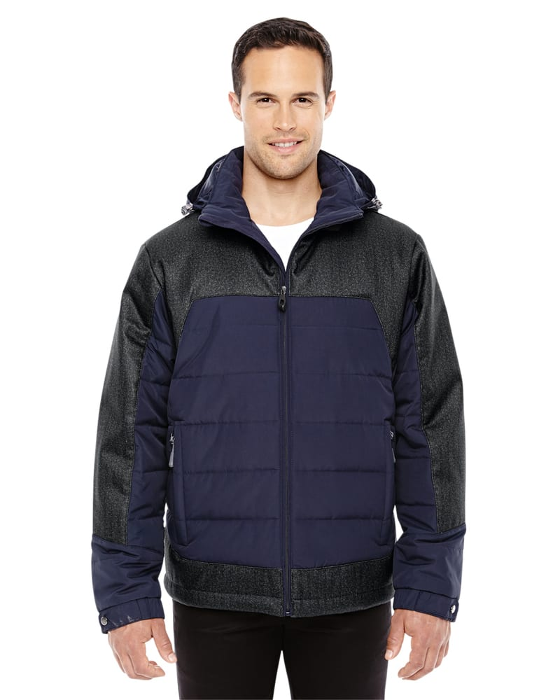 Ash City North End 88232 - Men's Excursion Meridian Insulated Jacket with Melange Print
