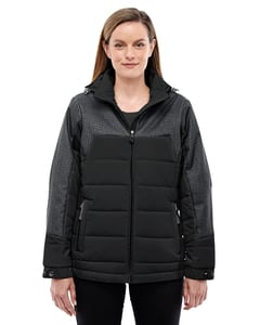 Ash City North End 78232 - Ladies Excursion Meridian Insulated Jacket with Melange Print
