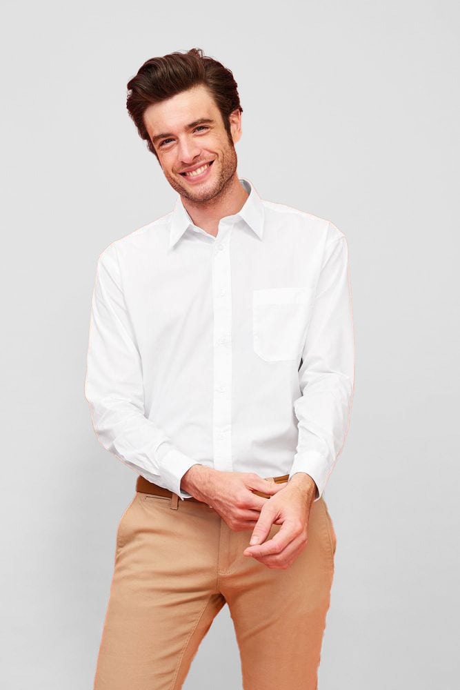 Sol's 16040 - Chemise Homme Popeline Manches Longues BALTIMORE