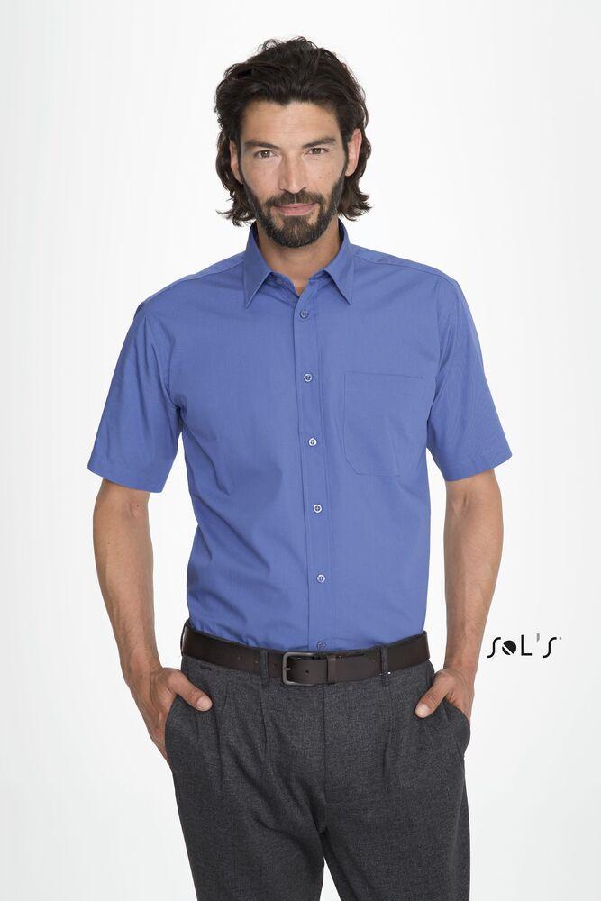 camisa popelín hombre manga corta