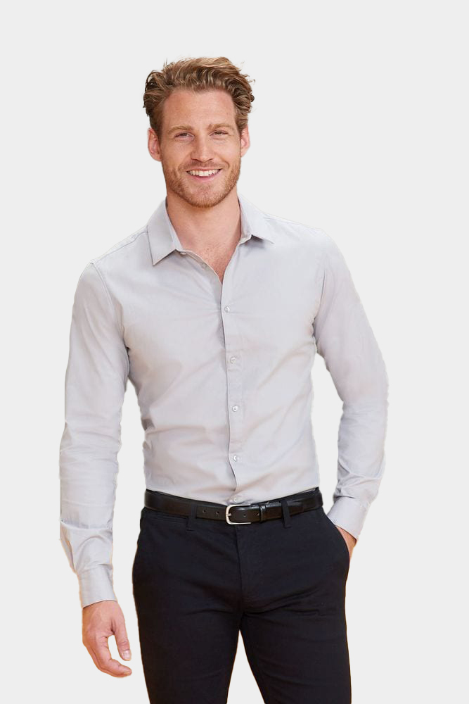 Sol's 01426 - MEN'S LONG SLEEVE STRETCH SHIRT BLAKE