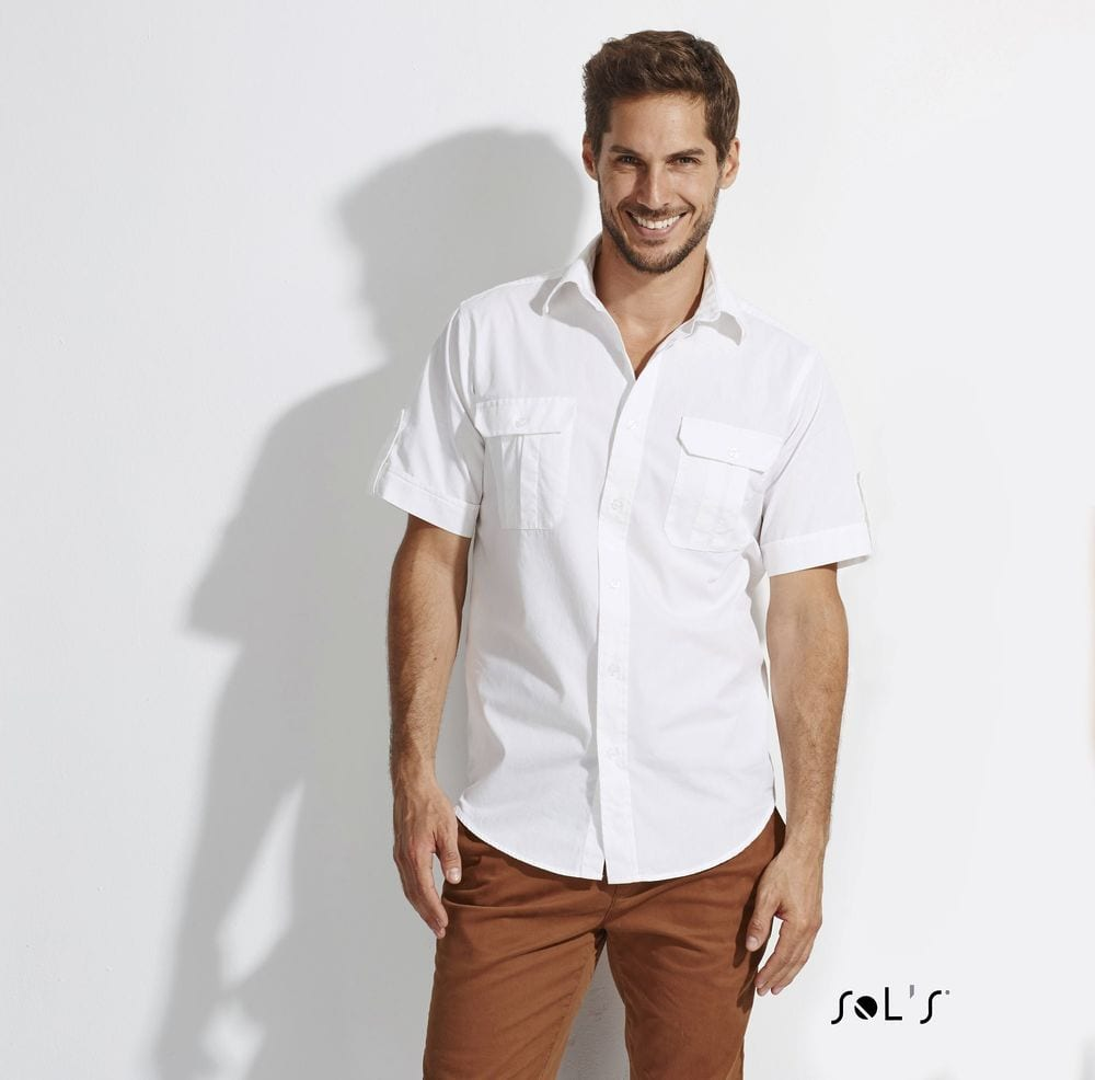 Sol's 16007 - Chemise Homme Manches Courtes BOTSWANA
