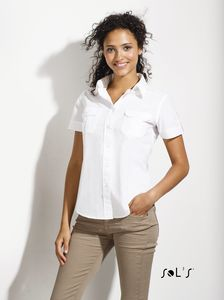 Sols 16008 - SHORT SLEEVE WOMENS SHIRT BOTSWANA