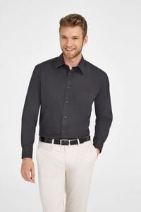 Sols 17060 - LONG SLEEVE POPLIN MENS SHIRT BRADFORD