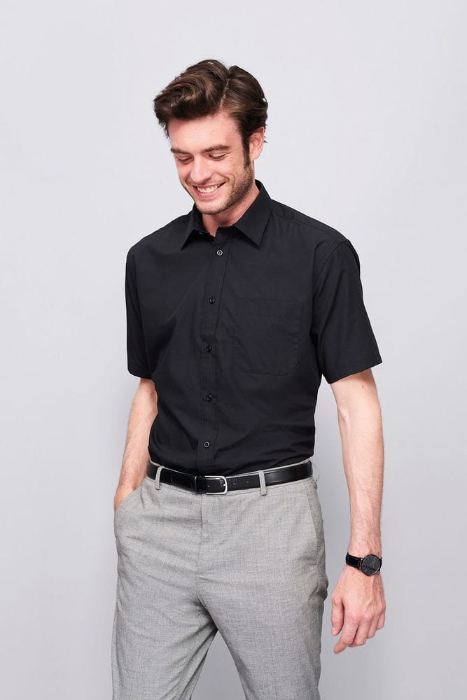 Sol's 16050 - Short Sleeve Poplin Men's Shirt Bristol