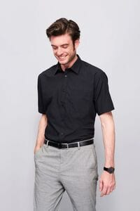 Sols 16050 - SHORT SLEEVE POPLIN MENS SHIRT BRISTOL