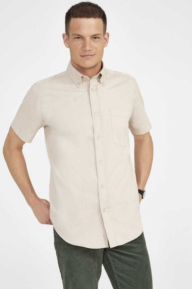 Sol's 16080 - Short Sleeve Cotton Twill Men's Shirt Brooklyn